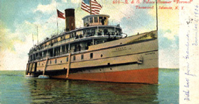 drawing of Lake steamer